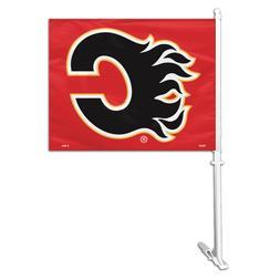 Auto Car Window Flag - NHL Calgary Flames. 2-sided.