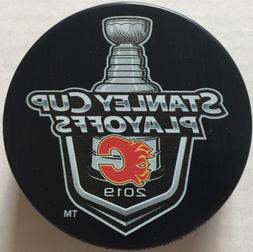 CALGARY FLAMES 2019 STANLEY CUP PLAYOFFS LOCK UP PUCK