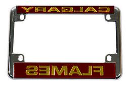 Calgary Flames Chrome Motorcycle, RV or Trailer License Plat