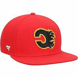 Calgary Flames Fanatics Branded Emblem Snapback Adjustable H