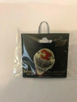 Calgary Flames goalie mask collectors pin