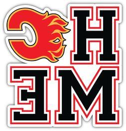 "Calgary Flames Home NHL Sport Car Bumper Sticker Decal - ""SI"