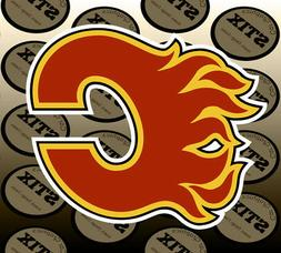 Calgary Flames Logo NHL Color Die Cut Vinyl Sticker Car Wind