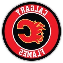 "Calgary Flames Logo NHL Sport Car Bumper Sticker Decal - ""SI"