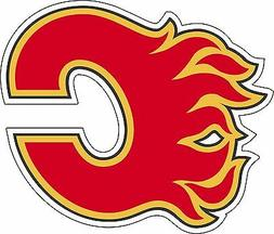 Calgary Flames NHL Hockey bumper sticker, wall decor, vinyl