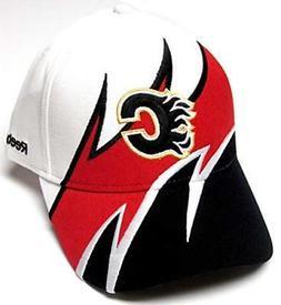 Calgary Flames NHL Reebok White Shark Tooth Wave Hat Cap Adu