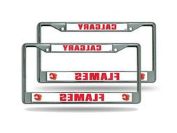 Calgary Flames NHL  Chrome Metal License Plate Frames