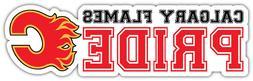 "Calgary Flames Pride NHL Sport Car Bumper Sticker Decal - ""S"