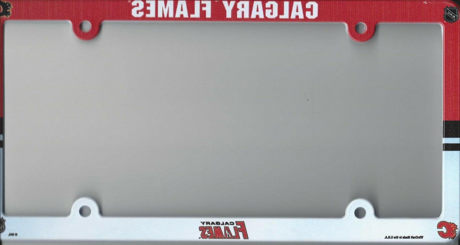Calgary Flames Plastic License Plate Frame