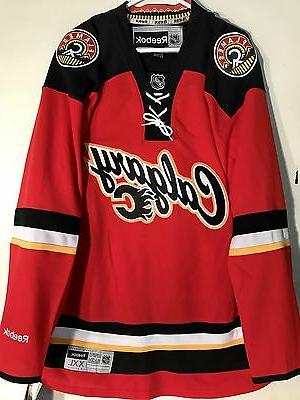 premier nhl jersey calgary flames team red