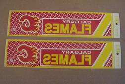 Lot Of  Vintage Calgary Flames 1990's Wincraft Bumper Sticke