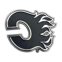 Fanmats NHL Calgary Flames Diecast 3D Chrome Emblem Car Truc