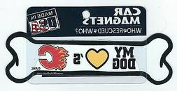 NHL Hockey My Dog Loves the Calgary Flames Fan Car Truck Mag