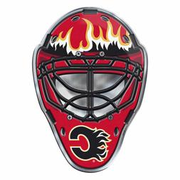 NHL Officially Licensed Calgary Flames Mask Premium Aluminum
