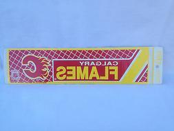 Vintage 91' Calgary Flames Bumper/Banner Sticker 3x11.5