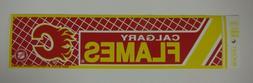Vintage NHL Hockey CALGARY FLAMES Sports Bumper Sticker WinC